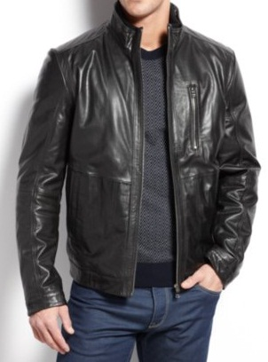 Handmade Men Black Leather Jacket, Men Black Fashion Leather ...