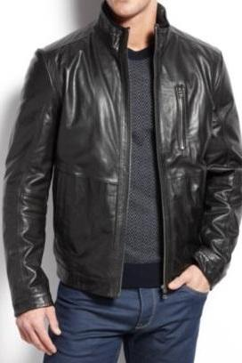 Handmade Men Black Leather Jacket, Men Black Fashion Leather Jacket, Black Real Leather Jacket