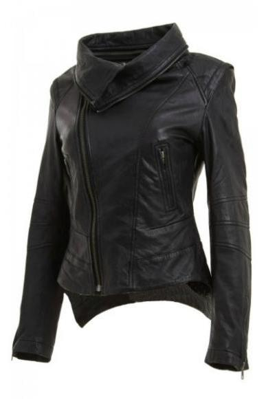 Leather Skin Women Black Handmade Genuine Leather Jacket