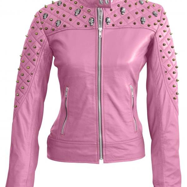Leather Skin Women Pink Sh..